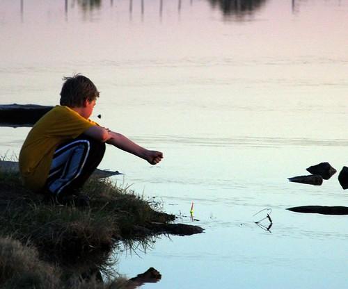 sunset fishing fisherman dreaming soe flowrbx bobber oaklake