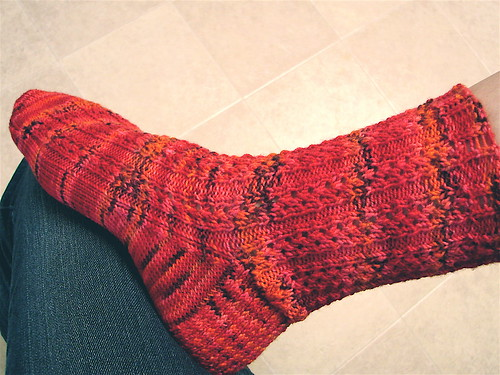 Go With the Flow Sock--1 down, 1 to go?