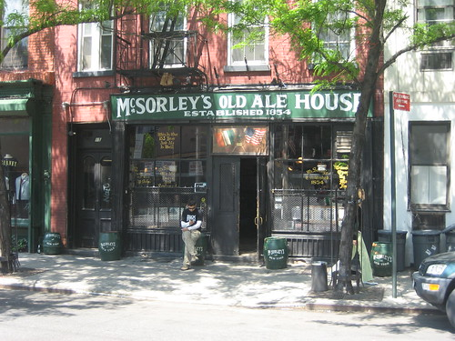 Historic McSorley's Old Ale House in NYC