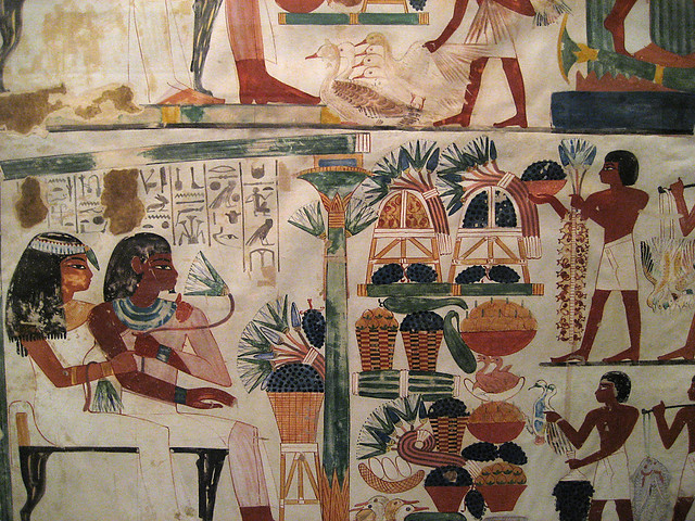 Egyptian wall paintings from the new kingdom flickr for Ancient egyptian mural paintings
