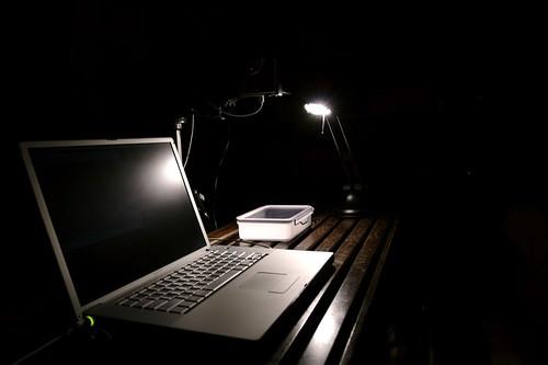 Light, Camera, Laptop.