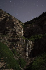 Provo Canyon in moonlight