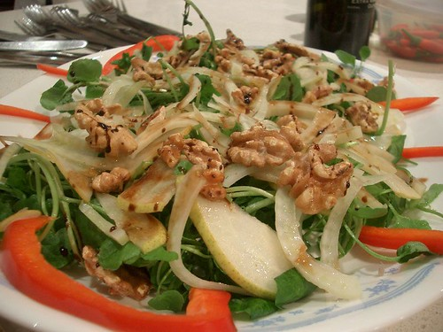 Alpha's Walnut, Pear, Fennel and Watercress Salad