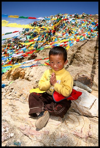 Boy at Ganden Monastery.