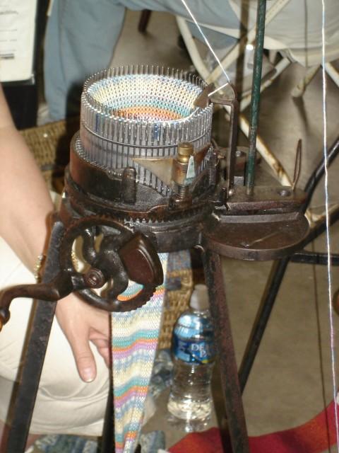 antique sock knitting machine