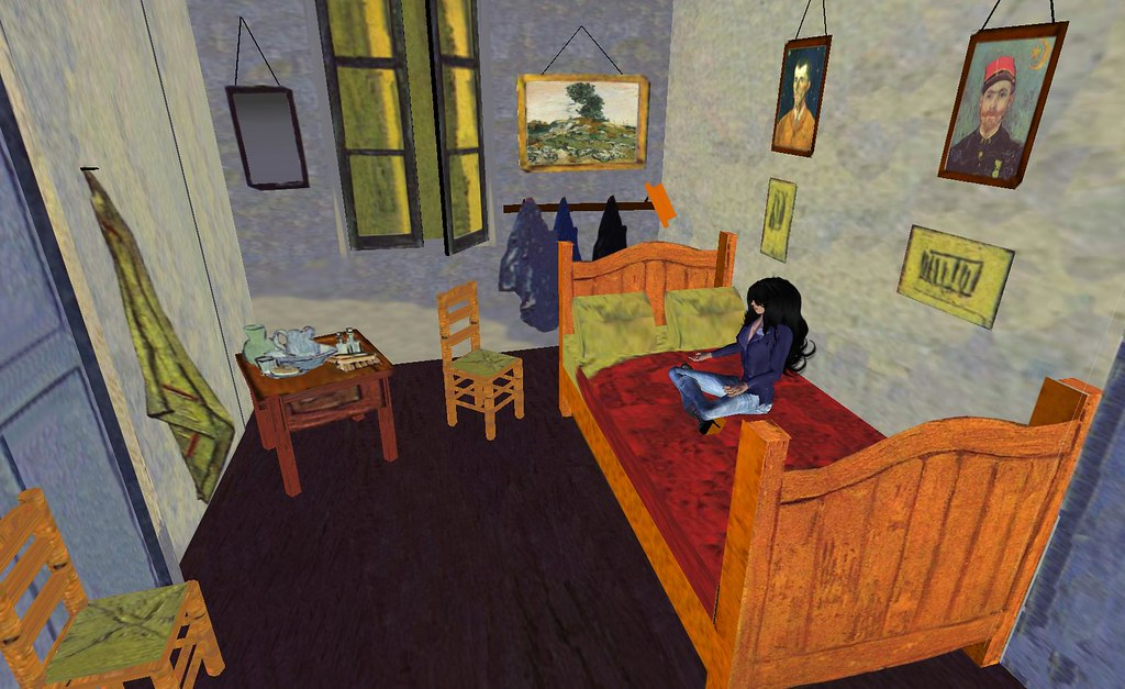 second life la chambre de van gogh a photo on flickriver. Black Bedroom Furniture Sets. Home Design Ideas