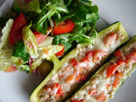 calabacín relleno + en_salada