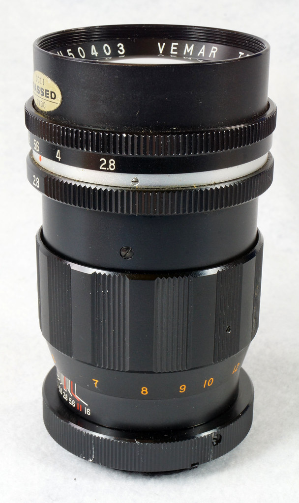RD15090 Vintage Vemar Telephoto Zoom Camera Lens 1_2.8 f = 135mm No. H50403 Ricoh Mount DSC07451