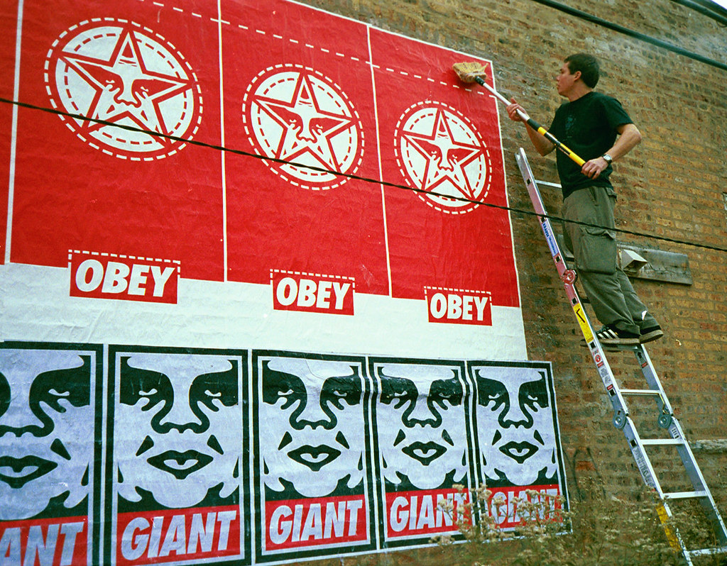 Shepard Fairey - OBEY Giant - a photo on Flickriver