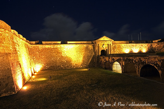 El morro puerto rico at night