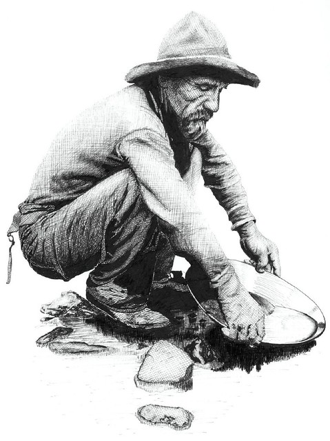 prospector this is a pen and ink illustration i did base