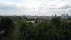 Londres vue des hauteurs de Greenwich