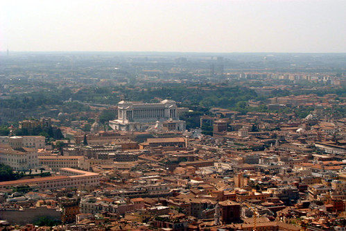 italy rome monument view aerial
