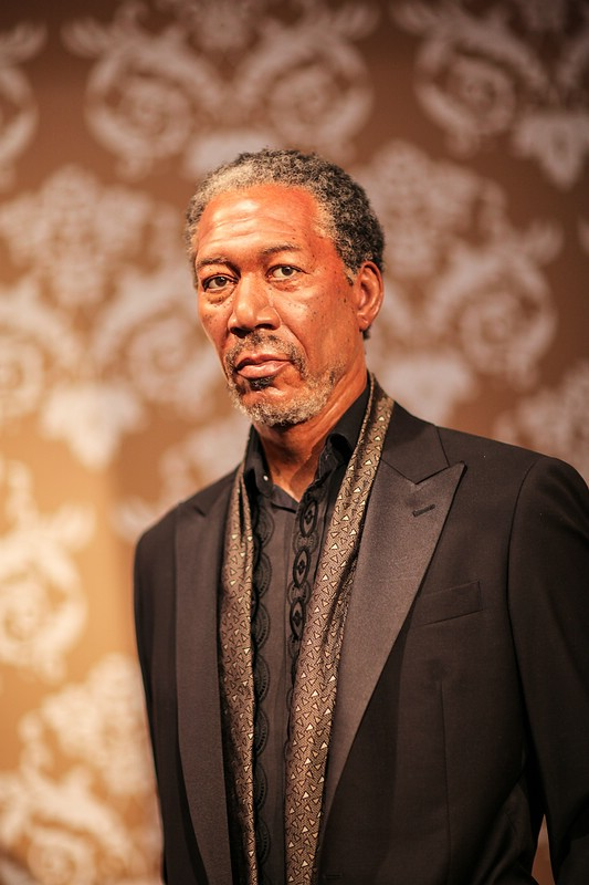 Morgan Freeman Wax Figure