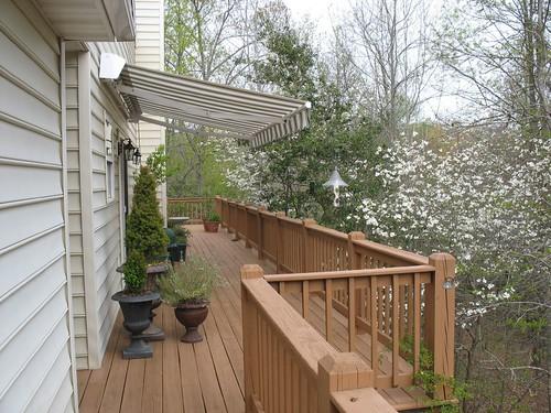 Side deck looking east
