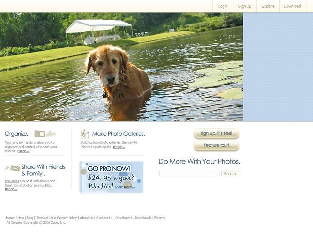 Zoto Design Direction - Homepage