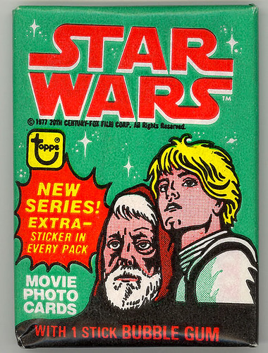 1977 Star Wars Trading Card Wax Pack Series 4