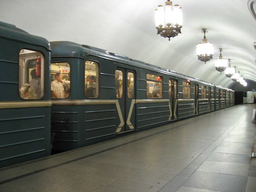 Train about to leave from Komsomolskaya