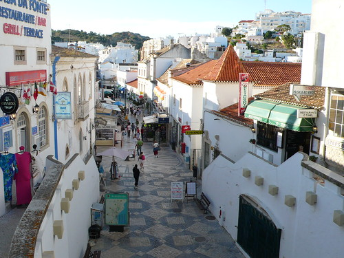 View over Albufeira old town