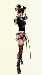 latex clothing(1.0), clothing(1.0), fashion(1.0), costume(1.0), action figure(1.0), adult(1.0), toy(1.0),