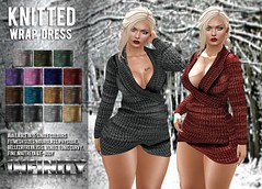 !NFINITY Knitted Wrap Dress