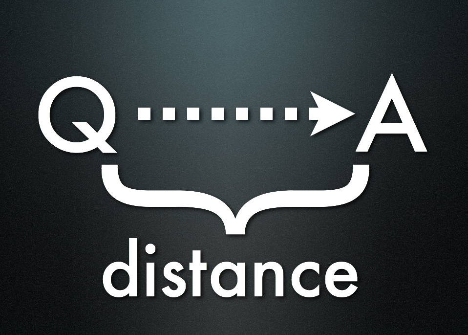 The Distance Between Question and Answer