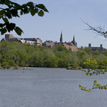Georgetown University Skyline over Three Sisters