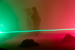aurora, red, light, line, green,