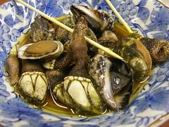 Dinner @ Anbo (Yakushima) 磯もの盛り合わせ(やしま・安房)