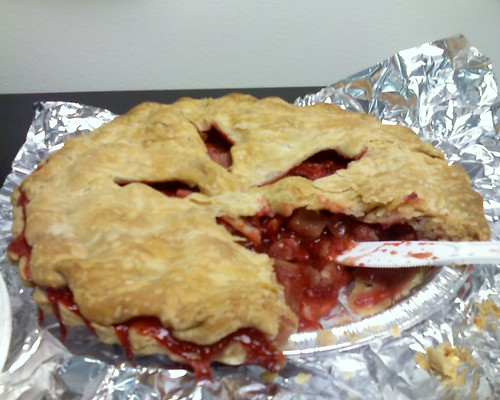 Homemade strawberry rhubarb pie