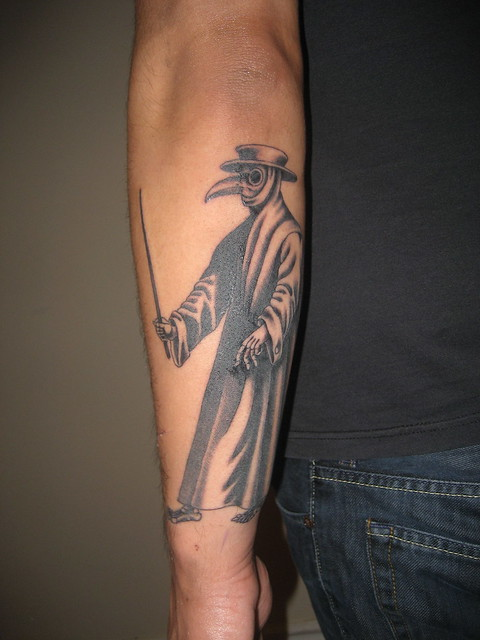 The plague doctor part 2 a gallery on flickr for Plague doctor tattoo