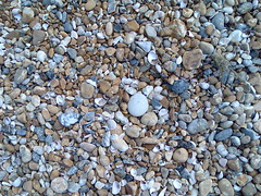 Hove - stones on beach