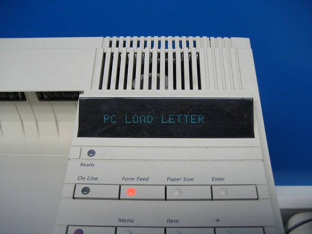 pc load letter pc load letter i was printing something in the newspaper 3661