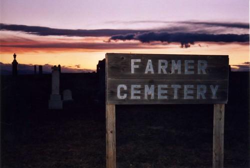 Farmer Cemetery at Sunset