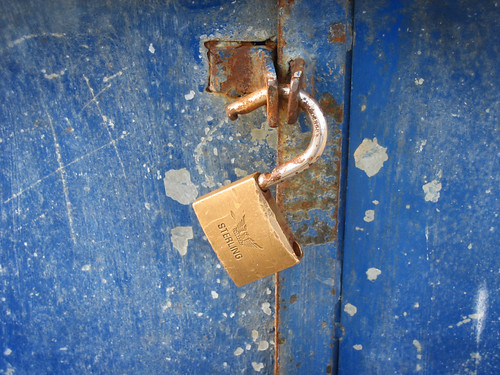 Broken Rusty Lock: Security (grunge)