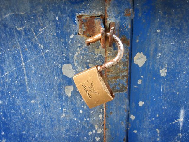 Broken Rusty Lock: Security (grunge)