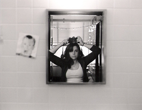 bw selfportrait reflection film canon bathroom mirror 100views homealone a1 nineteen 2007 yourfavorite 402mortimer