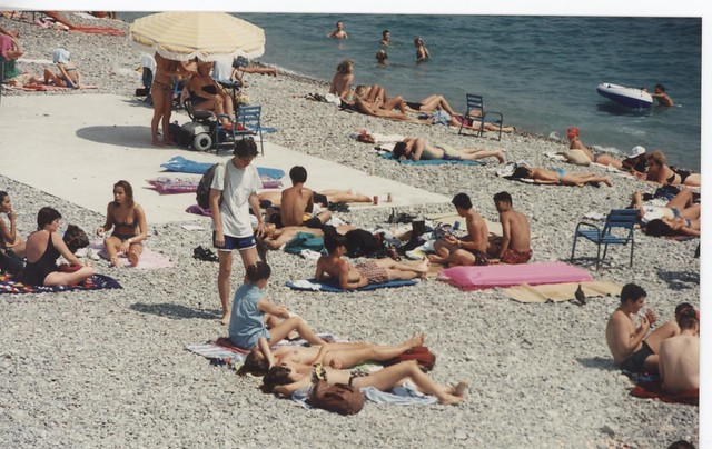 Nude Beach At French Rivera
