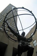 NYC - Rockefeller Center: Atlas and GE Building