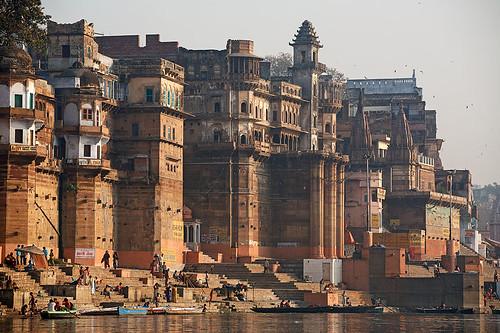 travel india tourism water architecture river landscape asia cityscape view palace holy varanasi hindu ganga ganges ghat uttarpradesh