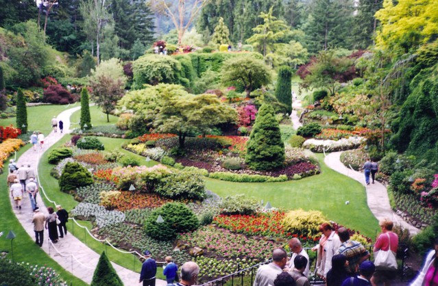 Butchart Gardens Vancouver Island Canada A View Of The