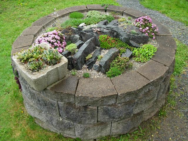 small circular rock garden flickr photo