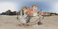 lions guarding arsenale, venice