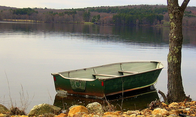 Fishing boat on quaboag pond flickr photo sharing for Pond fishing boats