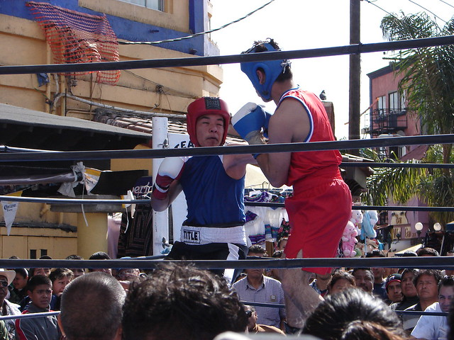 Outdoor Amateur Mexican Boxing