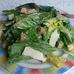Caesar salad with herbed croutons