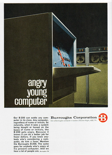 1960s Advertising - Magazine Ad - Burroughs Corporation (USA)
