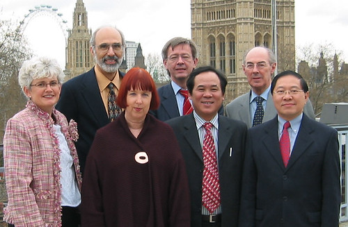 IFACCA board members are joined at Arts Council England by consultant Dr Jonathan Katz, London April 2005