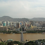 Lanzhou from the white pagoda, and the yellow river! not so yellow !