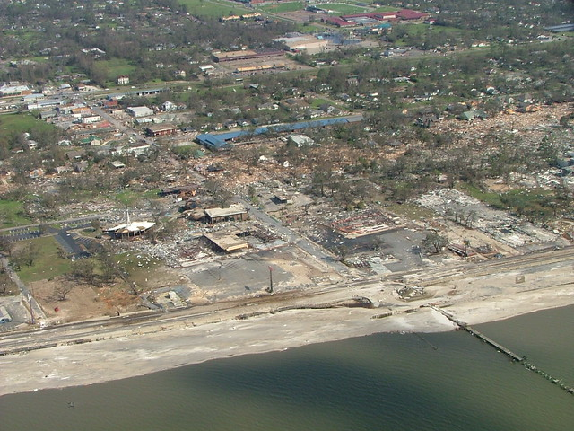 Long Beach Mississippi After Hurricane Katrina In 2005